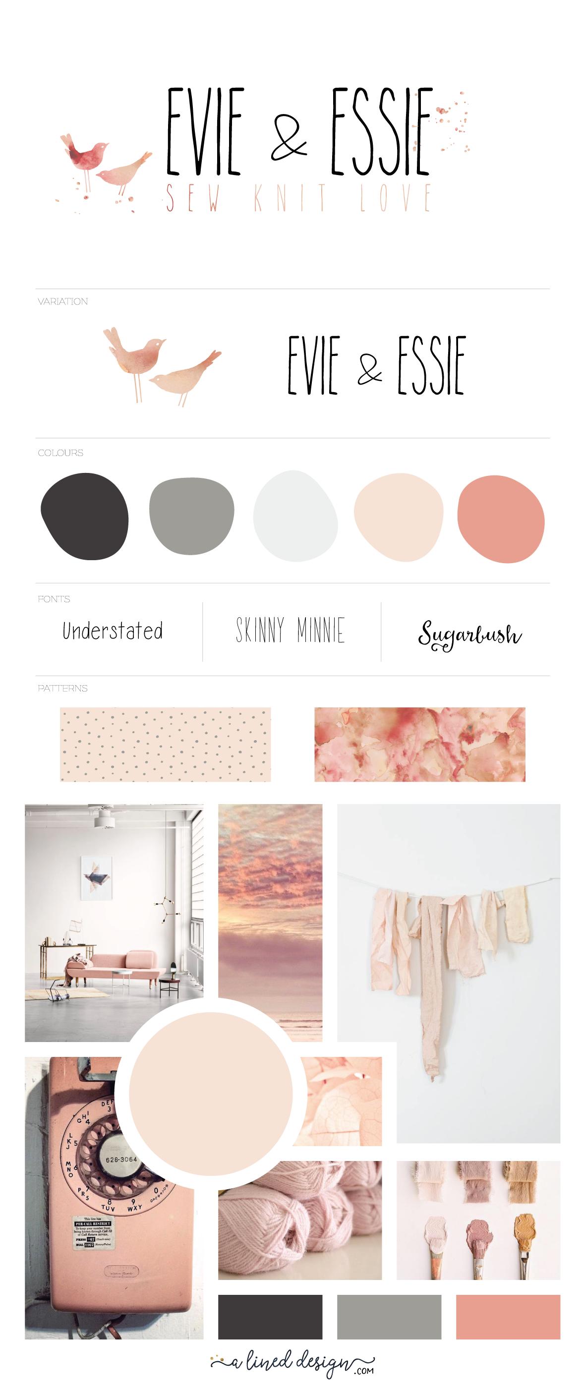 Evie & Essie branding sheet